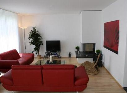 Ferienwohnung in Davos Wohnzimmer
